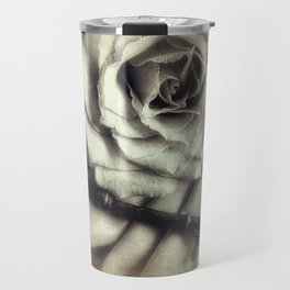 Faded Rose and Old Key Vintage Style Modern Country Cottage Art A130 Travel Mug