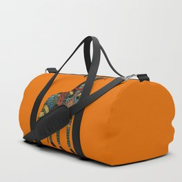 greyhound orange Duffle Bag