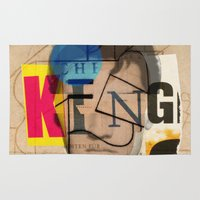 king Area & Throw Rugs featuring King by Marko Köppe