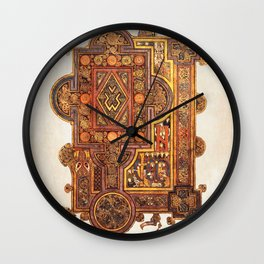 Book Of Kells Incipit To Luke Page Wall Clock