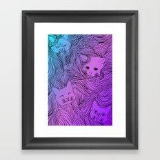 Shades of Cat Framed Art Print