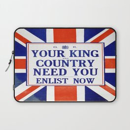 Vintage poster - Your King and Country Need You Laptop Sleeve