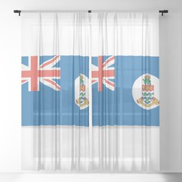 Flag of Cayman Islands. Flag of Cayman Islands. Sheer Curtain