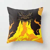 dungeons and dragons Throw Pillows featuring DUNGEONS & DRAGONS - INTRO by Zorio