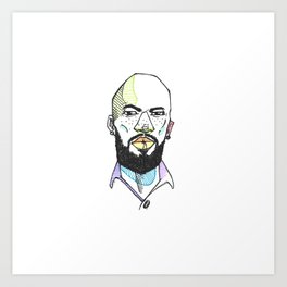 The Rapper-a-day Project | Day 8: Common Art Print