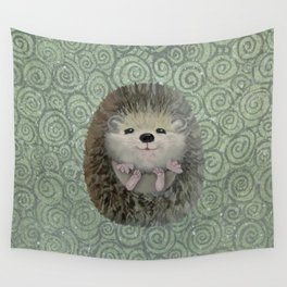 Cute Baby Hedgehog Wall Tapestry
