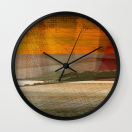 Landscape in the Middle East Wall Clock