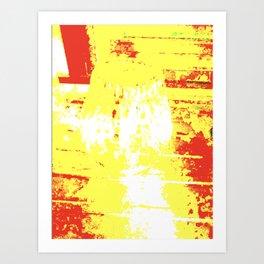 Painted Floor Boards? Art Print