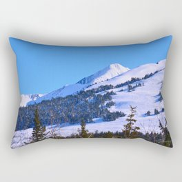 Back-Country Skiing  - IV Rectangular Pillow