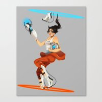 portal 2 Canvas Prints featuring Portal 2  by DeathBiscuitt
