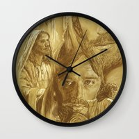 jesus Wall Clocks featuring Jesus by Bryan Dechter