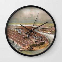 New York City - 1874 Wall Clock