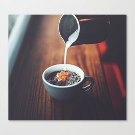 Dreams In My Coffee Canvas Print