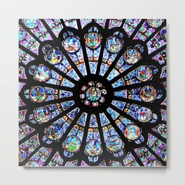 Cathedral Stained Glass Metal Print