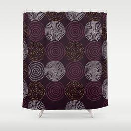 Burgundy Fire Balls Shower Curtain