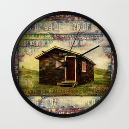 Vintage License Plate Camp ~ Ginkelmier Inspired Wall Clock