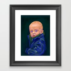 Hold - portrait painting of a child Framed Art Print