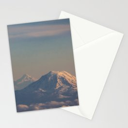 Three Mountain Peaks above the Clouds Stationery Cards