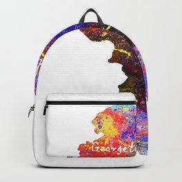 Georgetown Quote Art Design Inspirational Motivat Backpack
