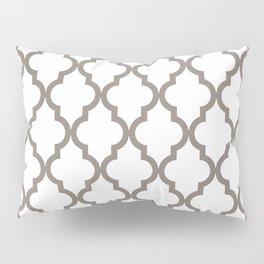 Moroccan Quatrefoil Pattern: Neutral Brown Pillow Sham