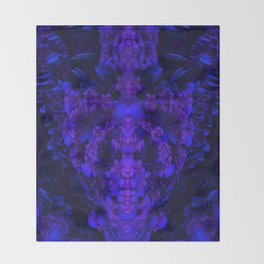Darkstar Kin Purple Throw Blanket