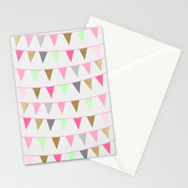 Spring Bunting Flags Stationery Cards