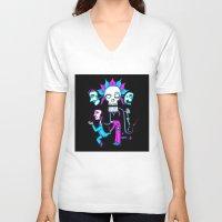 dia de los muertos V-neck T-shirts featuring Dia de los Muertos by Ken Seligson