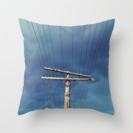 Power Lined Throw Pillow