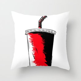 Red Cup Throw Pillow