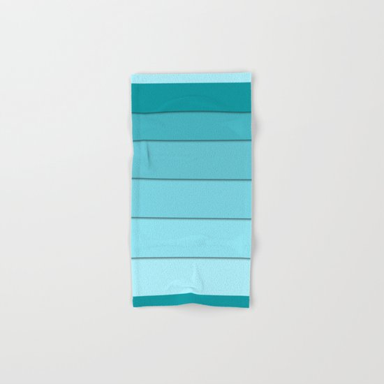 Colorful geometric striped pattern in shades of blue . Hand & Bath Towel