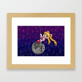 Sailor Moon Wrecking Ball Framed Art Print