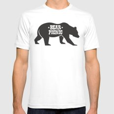 Bear Silhouette  Mens Fitted Tee White MEDIUM