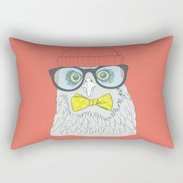 hipster pigeon Rectangular Pillow