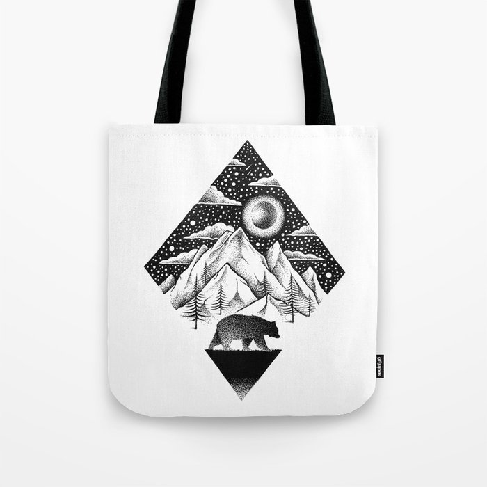 LONELY BEAR Tote Bag