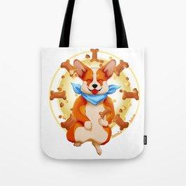 Zen corgi Tote Bag