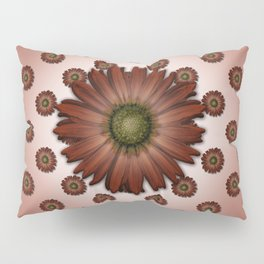 """Big Red Daisy, (pattern)"" Pillow Sham"