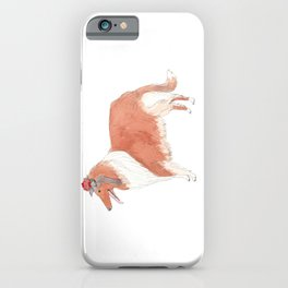 Collie with flower iPhone Case
