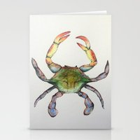 crab Stationery Cards featuring Crab by Sara Katy
