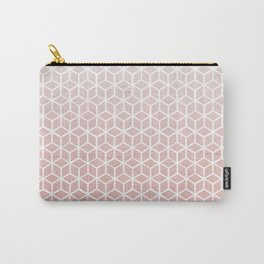 Cubes pattern pink Carry-All Pouch