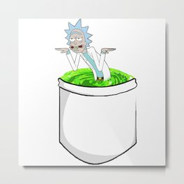 rick get shwifty in space portail pocket Metal Print