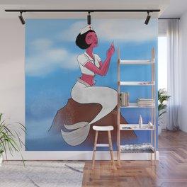 Nurse Mermaid Wall Mural