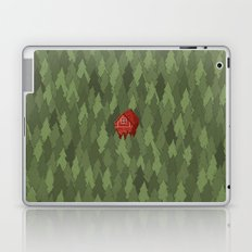 564 green pines and a red house  Laptop & iPad Skin