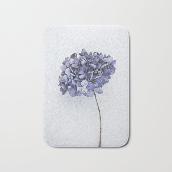 Dried Blue Hydrangea Bath Mat
