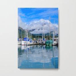 Seward Boat Harbor II, Alaska Metal Print