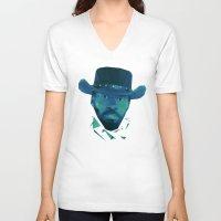 django V-neck T-shirts featuring Django by Dr.Söd