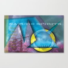 Nature Spirits Warning Signs Canvas Print
