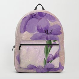 Purple Gladiolus Backpack