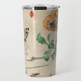 """Jan van Kessel de Oude """"Study of insects and flowers"""" Travel Mug"""