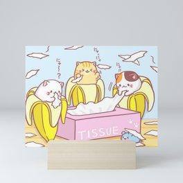 Banana Cat Bananya T-Shirt Mini Art Print