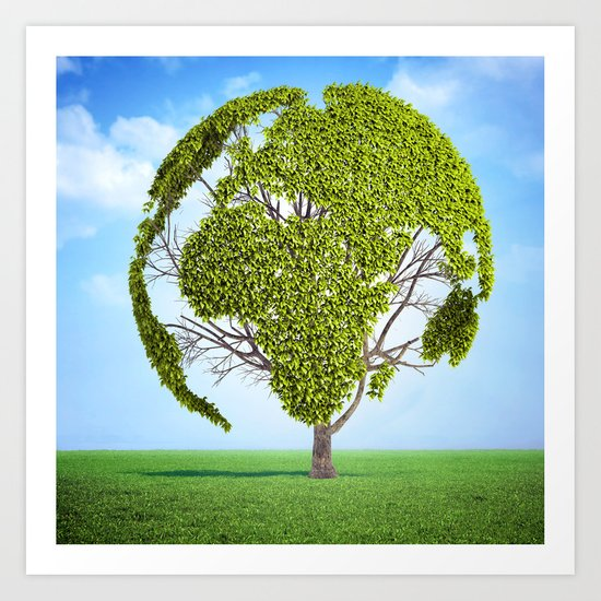 Globe Tree Art Print